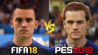 FIFA 18 World Cup Vs. PES 2018 New Player Faces Comparison