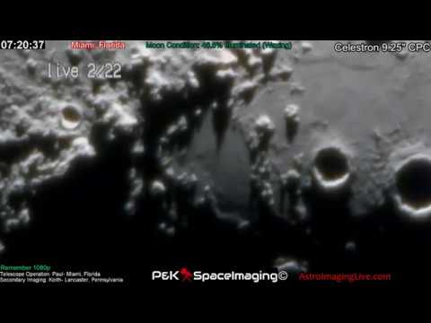 LIVE TELESCOPE! SEARCHING THE SURFACE! 2-22-18