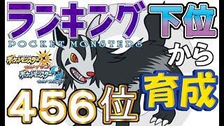 【ポケモンUSUM】ランキング下位から育成22グラエナ【456位】