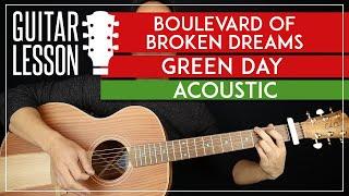 Boulevard Of Broken Dreams Acousitc Guitar Tutorial   Green Day Guitar Lesson |Chords + Solo|