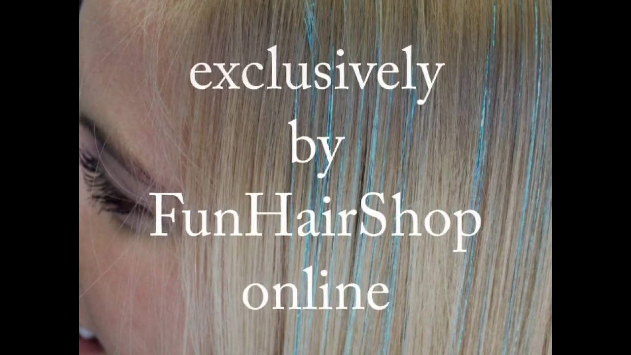 Tutorial: Demo how to apply and remove Tape-in Hair Tinsel Extensions - exclusively by FunHairShop