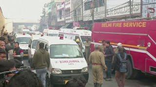 """인도 뉴델리 가방공장서 화재…""""43명 이상 사…"""