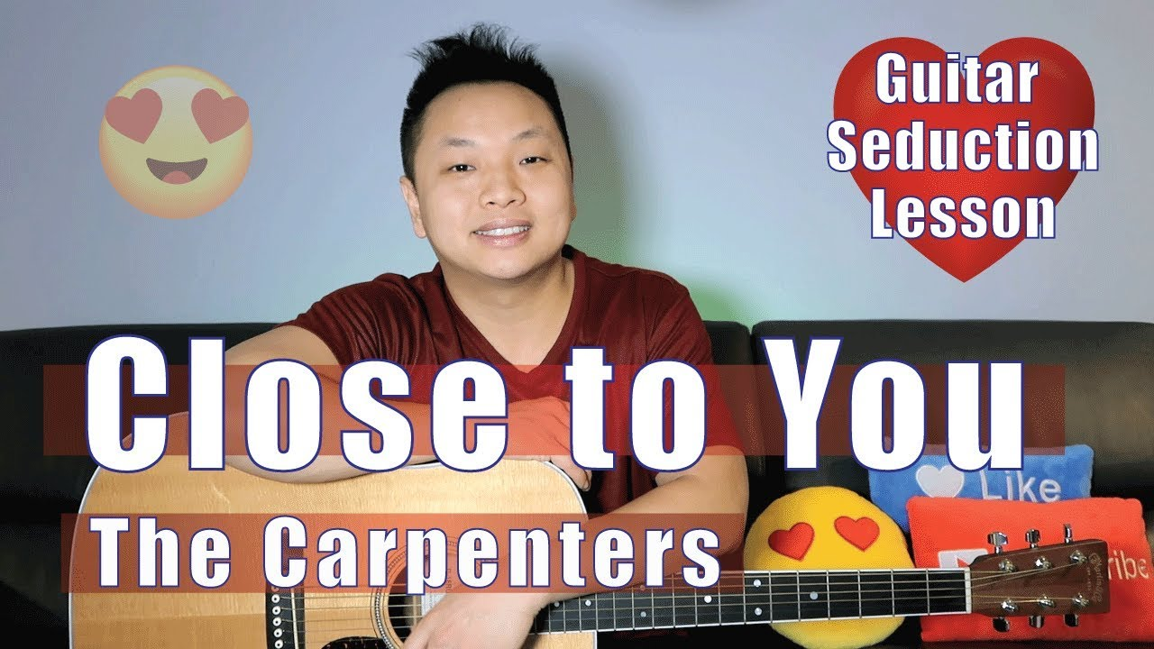 Close To You The Carpenters Guitar Tutorial Easy Youtube