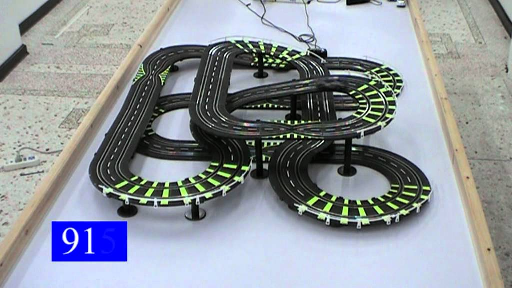 electric slot car with racing track143 scale 945a youtube