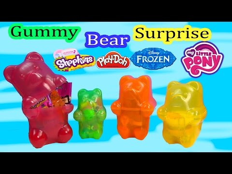 Surprise Filled Gummy Bears Mystery Blind Bags Shopkins 2 Disney Frozen LPS My Little Pony POP