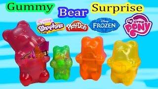 Surprise Filled Gummy Bears Mystery Blind Bags Shopkins 2 Disney Frozen LPS My Little Pony POP