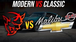 OLD VS NEW: How much faster are modern cars? | Dodge Demon vs Chevrolet Malibu SS | Demonology