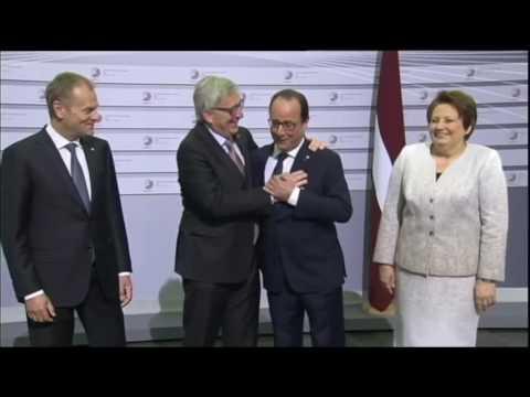 The President of the European Union dead drunk