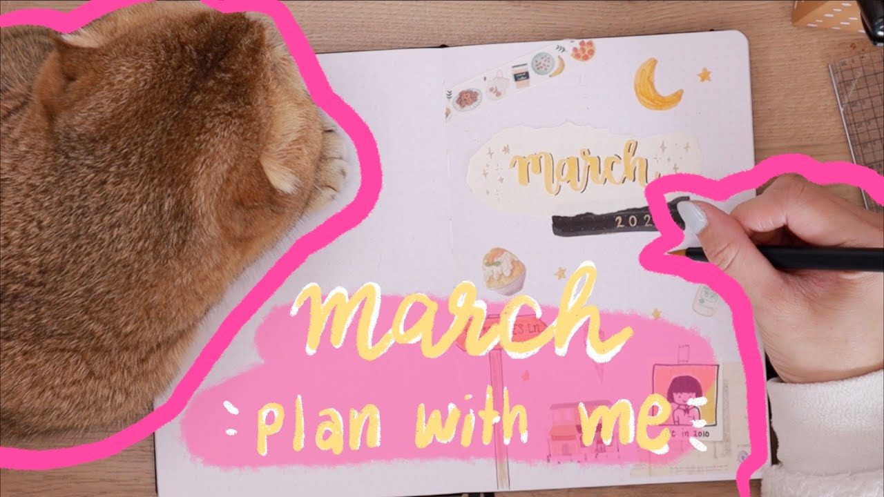 March plan with me | แพลนเนอร์ มีนาคม | Bullet Journal 2020