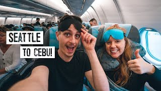 13 Hour Overnight Flight to THE PHILIPPINES! + Reviewing Weird Amazon Travel
