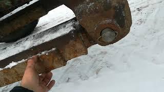 как сделать на трактор т 40 отвал для уборки снега