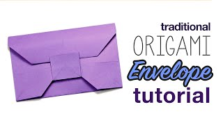 Traditional Origami Envelope Tutorial