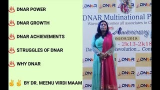 DNAR 5TH ANNIVERSARY ON 6TH SEP 2018 HERE IS DNAR POWER DNAR SUCCES...