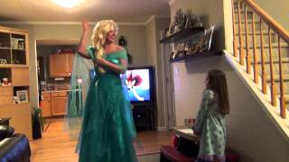Surprising our daughter McKensie with a trip to Disney World by Queen Elsa from Frozen