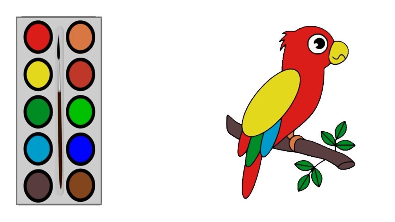 Cara Menggambar Burung Kakak Tua