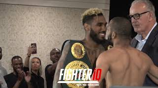 FULL JARRETT HURD & JULIAN WILLIAMS WEIGH IN & FACEOFF