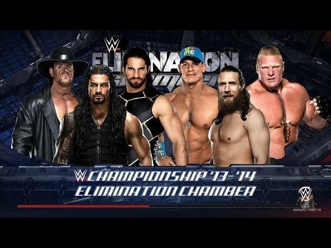 WWE 2K16 - Elimination Chamber: Brock Lesnar Vs Seth Rollins Vs Daniel Bryan Vs Undertaker Vs Cena