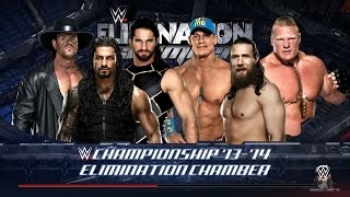 WWE 2K16 - Elimination Chamber: Brock Lesnar vs Seth Rollins vs Daniel Bryan vs Undertaker vs Cena thumbnail