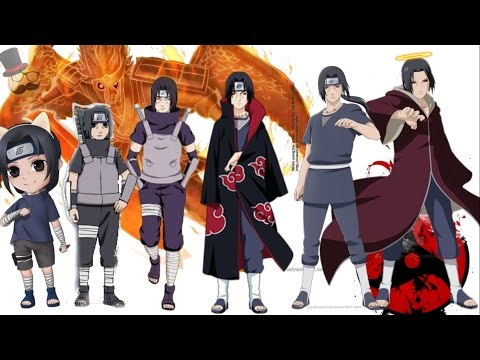 Naruto characters: Uchiha Itachi's Evolution: Itachi Uchiha (うちはイタチ, Uchiha Itachi) was a prodigy of Konohagakure's Uchiha clan. He became an international criminal after murdering his entire clan, sparing only his younger brother, Sasuke. He afterwards joined the international criminal organisation known as Akatsuki, whose activity brought him into frequent conflict with Konoha and its ninja — including Sasuke — who sought to avenge their clan. Following his death, Itachi's motives were revealed to be more complicated than they seemed and that his actions were only ever in the interest of his brother and village, remaining a loyal shinobi of Konohagakure to the very end. Music: Undeniable