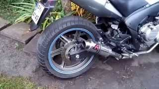 honda cbf 600 dominator motogp exhaust sound