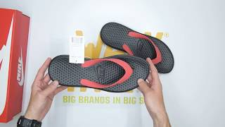 1ee4fcb71b5166 Nike Solay Thong - Red  Black - Unboxing