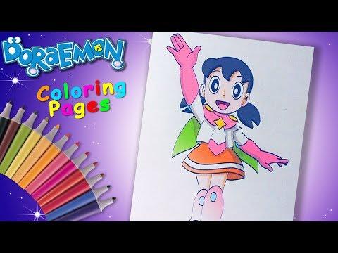 #Doraemon ドラえもん Nobita's Space Heroes Coloring #ForKids #Shizuka Minamoto Colouring