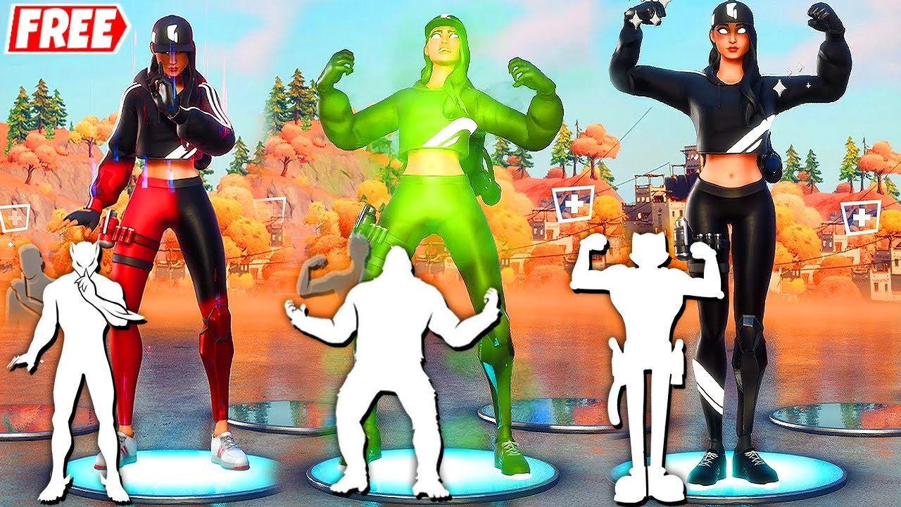 Download Fortnite RUBY SHADOWS Skin (Free STREET SHADOWS Challenge Pack) doing all Built-In Emotes!