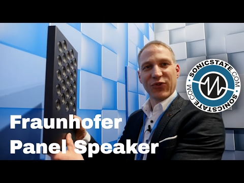 MESSE 2017: Thin Panel Speakers from Fraunhofer use New Tech
