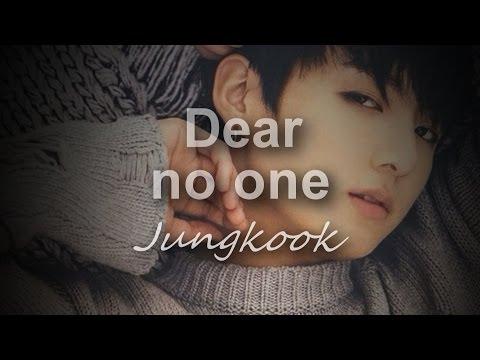 Jungkook Dear no one  lyrics