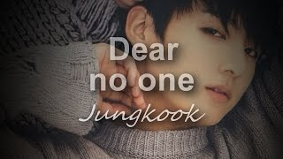 Repeat youtube video Jungkook Dear no one (cover) [lyrics]