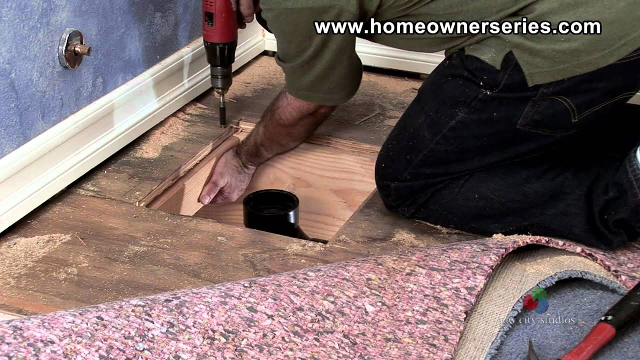 winning replacing floor in bathroom. How to Fix a Toilet  Wooden Sub Flooring Flange Repair Part 3 of YouTube