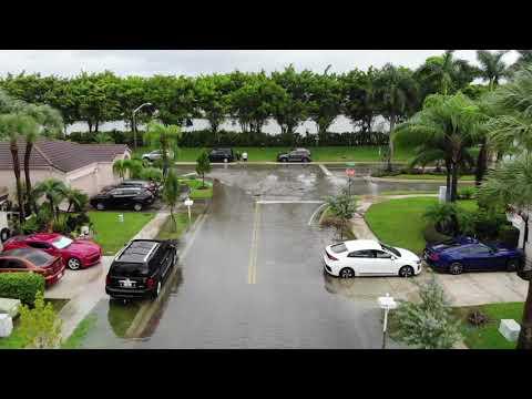 Tropical Storm Eta Flooding in Pembroke Pines, FL