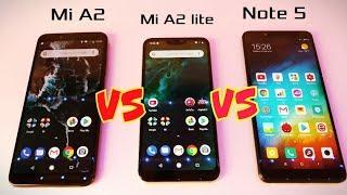 Xiaomi Mi A2 vs Xiaomi Mi A2 Lite vs Xiaomi Redmi Note 5. Сравнение - что КУПИТЬ?