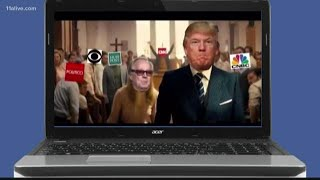 Violent fake video of President Trump on killing spree in 'church of fake news' circulating online