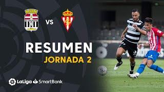 Resumen de FC Cartagena vs Real Sporting (0-1)