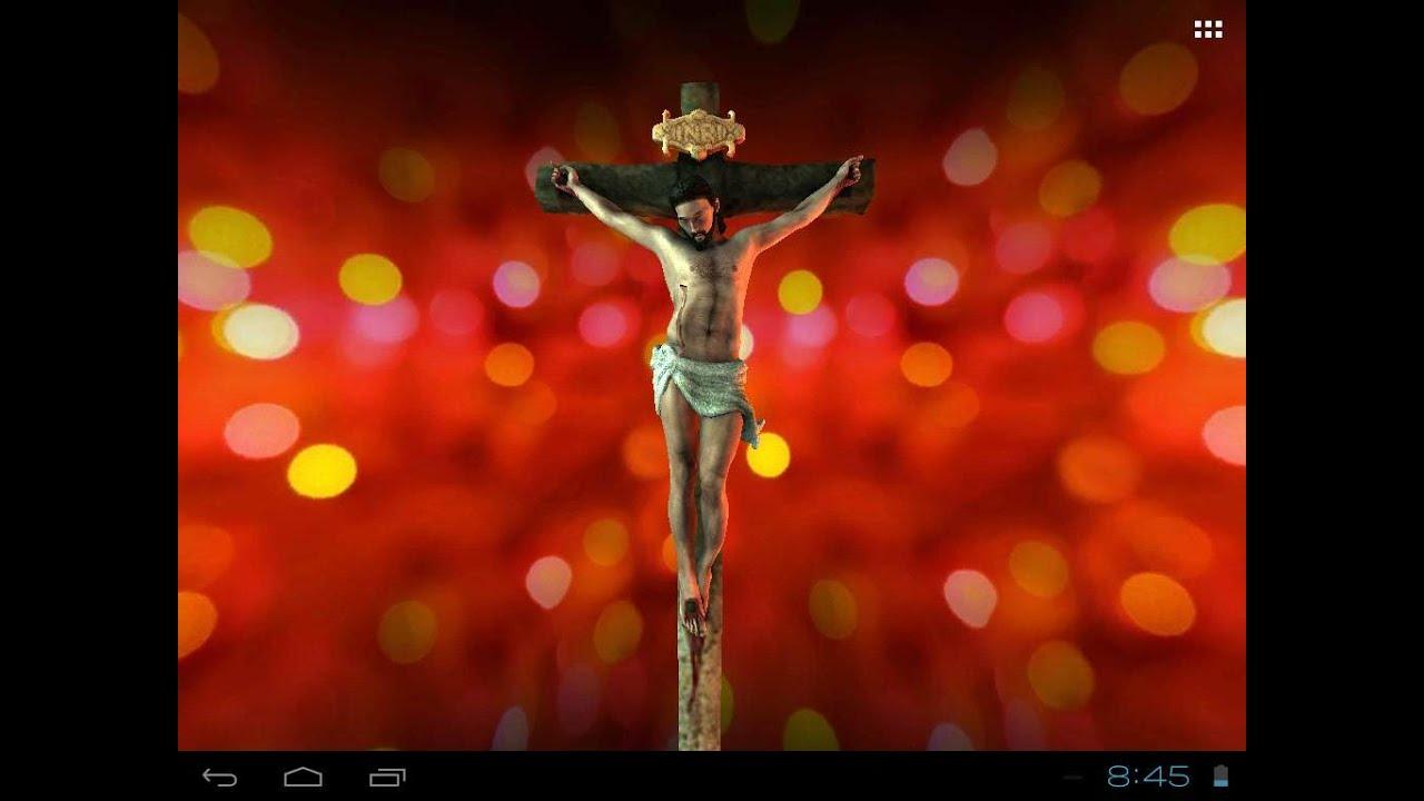 Jesus Christ: 3D Live Wallpaper, Free Animated Mobile App - YouTube