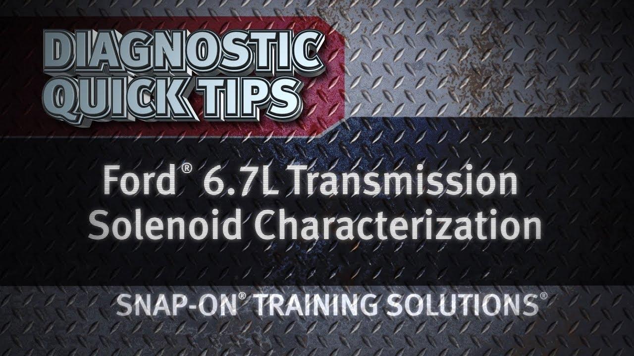 diagnostic quick tips ford 6 7l transmission solenoid characterization [ 1280 x 720 Pixel ]