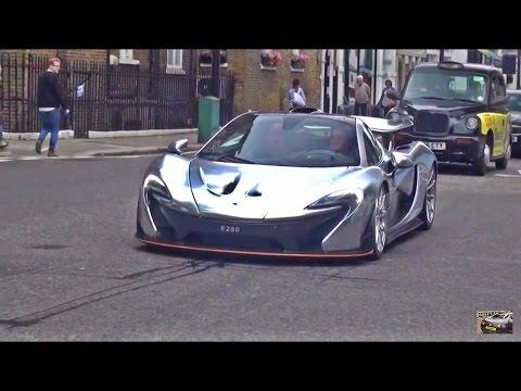 chrome mclaren p1 in race mode hits london youtube