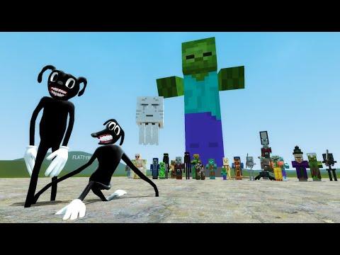 CARTOON DOG VS MINECRAFT MOBS!! Garry's Mod Sandbox