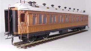 Обзор бумажной модели, Спального вагона прямого сообщения, 1/87, Modeller