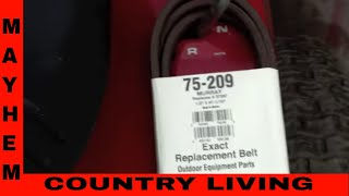 How to replace a Murray drive belt