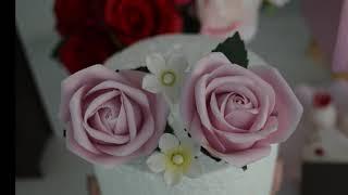 Massa de flores para bolos.