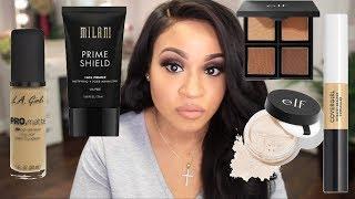 100% DRUGSTORE Full Face Makeup Tutorial + $20 Brush Set!!