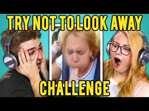 Thumbnail: ADULTS REACT TO TRY NOT TO LOOK AWAY CHALLENGE