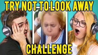 ADULTS REACT TO TRY NOT TO LOOK AWAY CHALLENGE thumbnail
