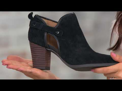 Franco Sarto Suede Perforated Ankle Boots - Dakota On QVC