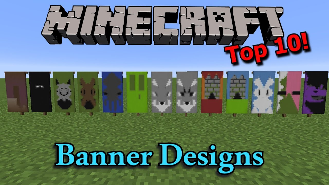 minecraft: top 10 banner designs  youtube
