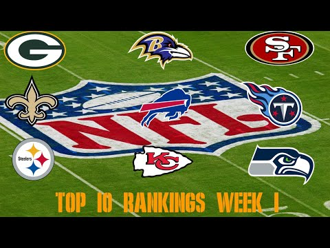 Top 10 NFL Power Rankings: Week 1