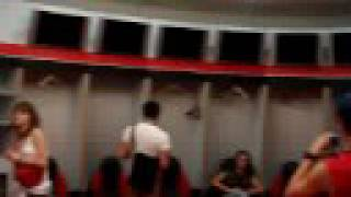 Tour of the AC Milan changing rooms