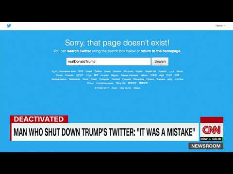 News!! He deactivated Trump's twitter account  world news